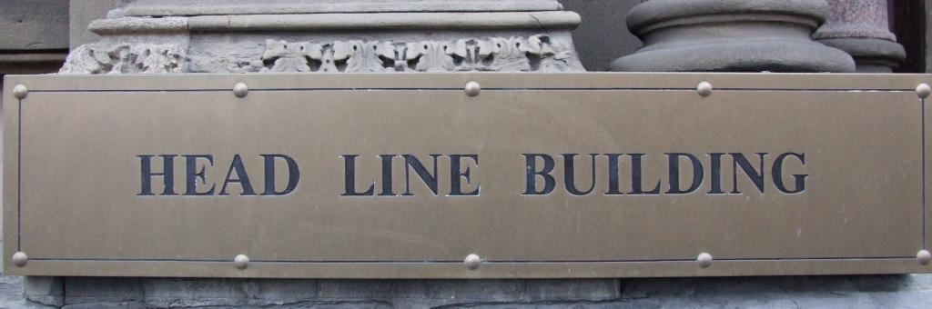 Head Line Sign